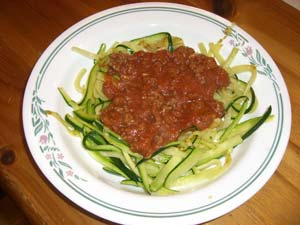 square foot gardening zucchini noodles